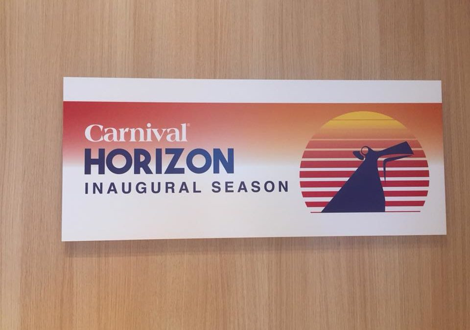Studiereis op de Carnival Horizon – 20 t/m 22 april